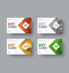 Template of a white gift card with an arrow and vector