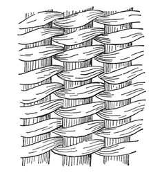 Twined work basket weave the most intricate and vector