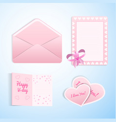 valentines love set vector image