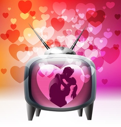 Tv spreading love around vector image