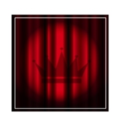 Theater curtain with spotlight vector