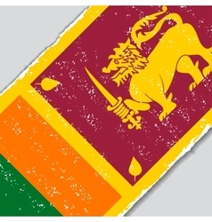 Sri Lanka grunge flag vector image