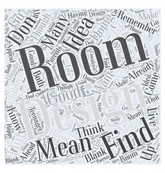 Room design word cloud concept vector