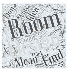 room design Word Cloud Concept vector image