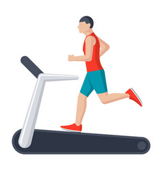 running on treadmill vector image