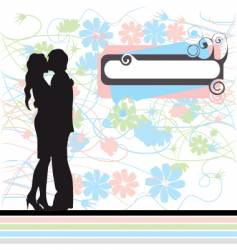 Couple black silhouette vector
