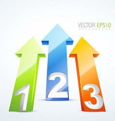 3d numbered arrows vector