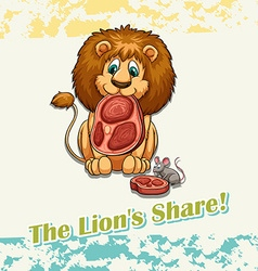 The lions share idiom vector