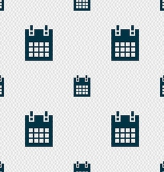 Calendar page icon sign seamless pattern with vector