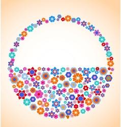 floral basket vector image