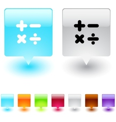 calculate square button vector image
