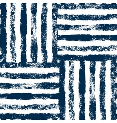 Blue and white striped woven grunge seamless vector
