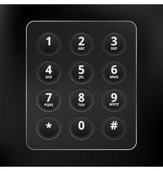 Black Phone Keyboard vector image
