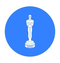 Academy award icon in black style isolated on vector