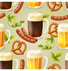 Beer seamless pattern vector