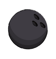 Bowling ball sport icon vector