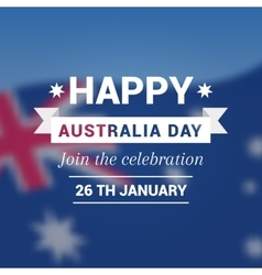 Card on holiday Australia Day vector image vector image