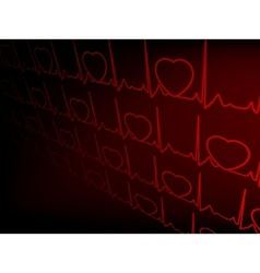 cardiogram with hearts eps 8 vector image vector image