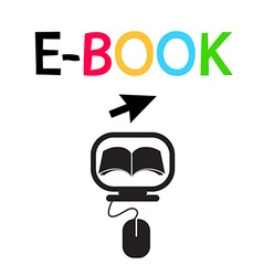 E-BOOK Icon Logo Design Symbol vector image