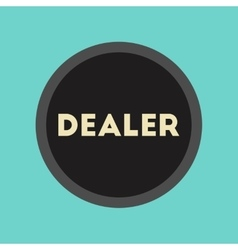 flat icon stylish background poker chip dealer vector image vector image