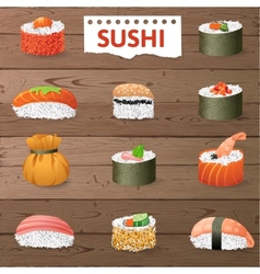Great sushi set vector image