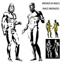 Greek sculptures vector