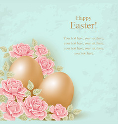 Greeting card Easter background vector image