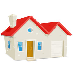 house and garage vector image