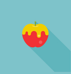 Icon of apple with honey vector