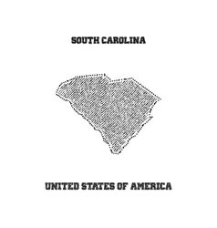 Label with map of south carolina vector image vector image
