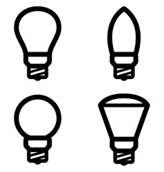 lamp pictograms vector image vector image
