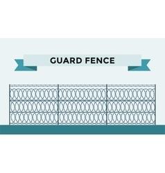 Metallic fence isolated on background vector