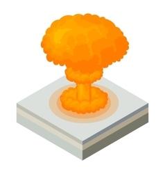 Nuclear explosion icon cartoon style vector image