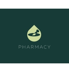Pharmacy logo design Health care medical vector image vector image