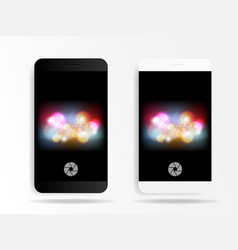 smartphone in caremr mode application vector image vector image