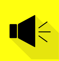 sound sign with mute mark black icon vector image vector image