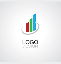trading business logo vector image vector image