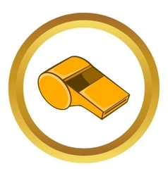 Whistle of refere icon vector