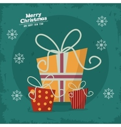 Merry christmas gifts design vector