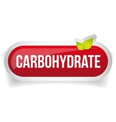 Carbohydrate button red vector