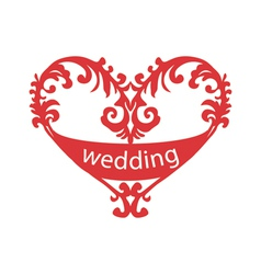 Heart for wedding vector