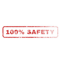100 percent safety rubber stamp vector