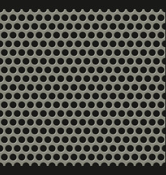 Seamless tiling metal grill pattern vector