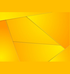Yellow abstract material corporate background vector