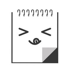 kawaii diary cartoon vector image