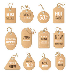 discounts tags drop price and big sales vector image