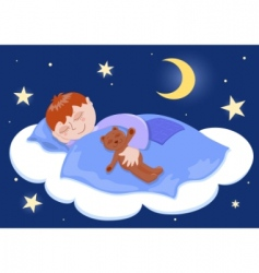 Boy sleeps vector