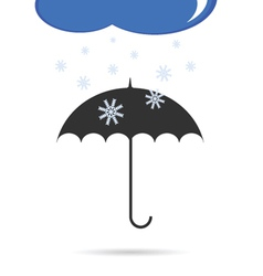 Umbrella with snow color vector