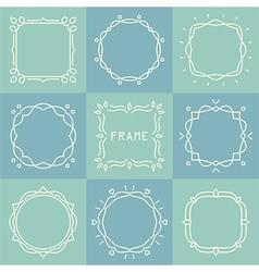 Outline frames set vector