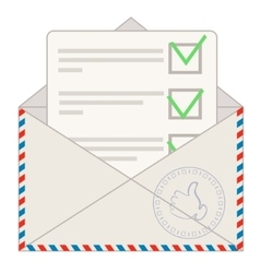 Approved loan application sticking out of mailbox vector